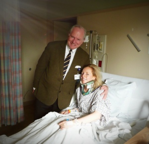 Dr Henderson after surgery