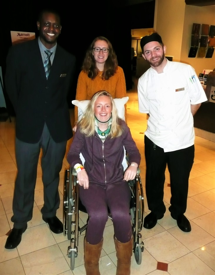 Marcus (Assistant Manager), Rochelle (Twin Sister) and Chef Michael